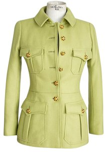 Chanel 96a Cabachon Vintage Jeweled Green Jacket