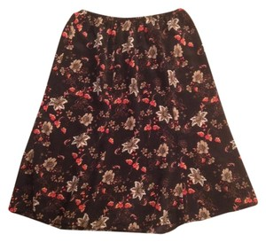 Other Maple Leaves Skirt Dark Floral Orange