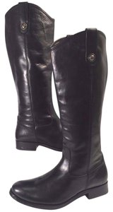 Frye Vintage Leather Knee-high Buttons Distinguish True To Size Black Boots