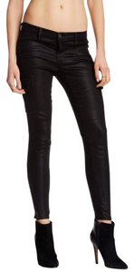 J Brand Cargo Skinny Pants Lacquered Black