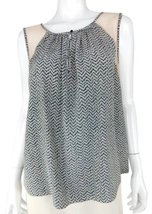 Elizabeth and James Silk Sheer Print Tunic