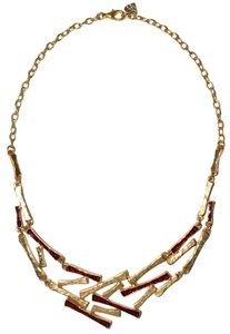 Other Tree Branch Enamel Collared Statement Necklace