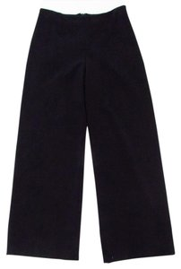 Weill Cropped Wide Leg Trouser Wide Leg Pants Black