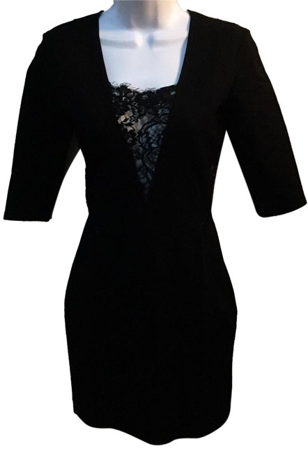 Item - Black Form Fitting Short Night Out Dress Size 4 (S)