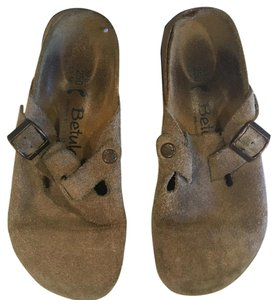 Birkenstock Brown, tan Mules