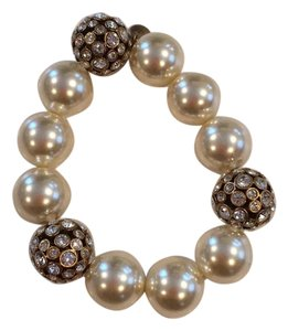 J.Crew Pearl And Crystal Bracelet