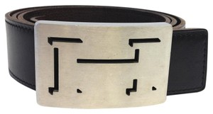 Hermès #8095 Brushed silver cut out H lucky buckle 32 Mm Reversible Belt