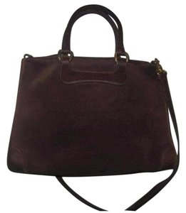 Gucci Doctor's Early Detachable Strap Suede And Leather High-end Bohemian Satchel in brown