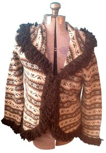 Nine West Wool Metallic Long Sleeves Polyester Eye And Hook Cardigan