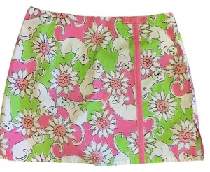 Lilly Pulitzer Mini Skirt Pink Green