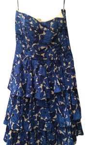 Cynthia Steffe Ruffles Summer Strapless Dryclean Only Dress