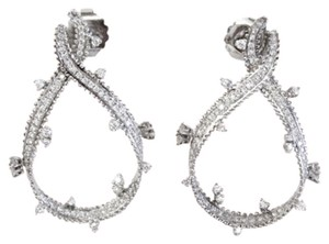 Doris Panos 18k White Gold Ribbon Earrings