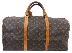 Louis Vuitton Keepall Weekender Monogram Travel Bag