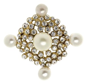 Chanel Chanel Crystal Faux Pearl Vintage Brooch