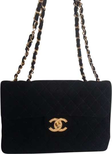 Preload https://item1.tradesy.com/images/chanel-w-code-quilted-flap-gold-chain-cc-turn-lock-jumbo-large-cloth-shoulder-bag-1843080-0-0.jpg?width=440&height=440