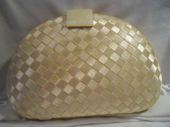 Whiting & Davis ivory Clutch