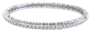 Doris Panos 18K White Gold Bangle with Diamonds