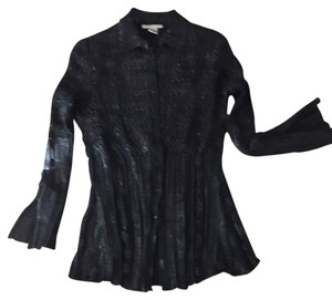 Alberto Makali Top Black With Silver Shimmer