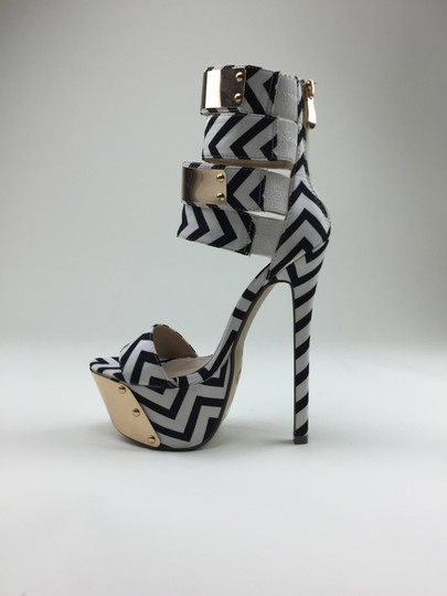Other Zipper Wedges black, white Platforms