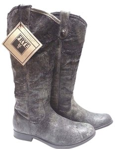 Frye Knee-high Buttons Distinguish True To Size Worn In Look Glazed Distressed Boots