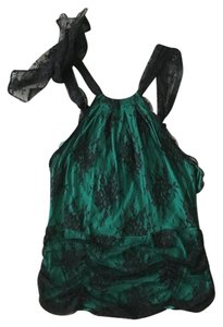 Victoria's Secret Sexy Little Things Top Kelly Green with black lace