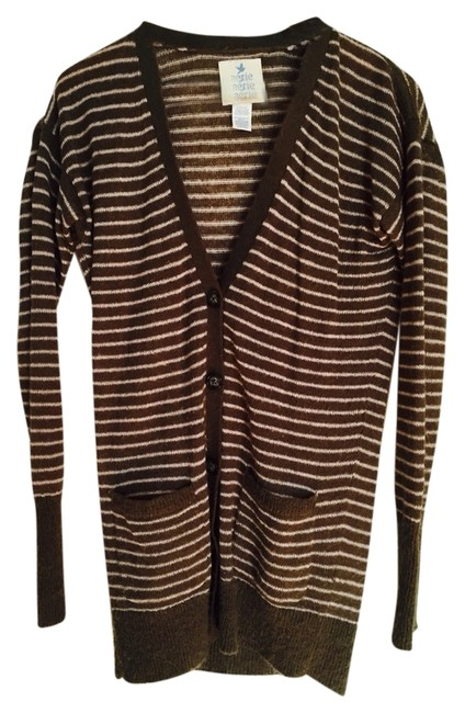 Preload https://item5.tradesy.com/images/aerie-cardigan-brown-with-pink-stripes-1843169-0-0.jpg?width=400&height=650
