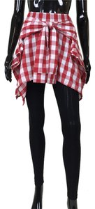 Other Skirt Shirt Checkered Red, white, black Leggings