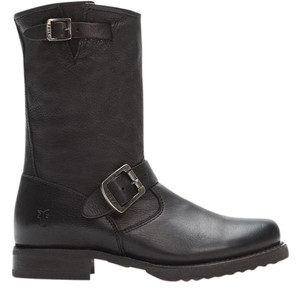 Frye Features Buckles Made In Mexico Vintage Leather Calf Shine Style No.76509 Black Boots