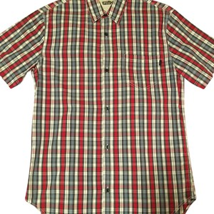 French Connection Button Down Shirt Red, white, and blue