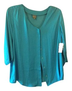 Covington Jade Green 2x Buttons Top Harbor Blue