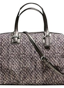 Coach Satchel in snake print