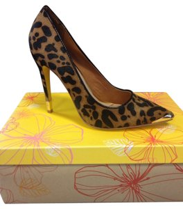 Yellow Box Cheetah Pumps