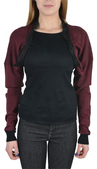 daef4cb2e7dc ... Off Retail. well-wreapped Just Cavalli 100% Wool Burgundy Lace Trimmed  Women s Bolero Sweater - 80