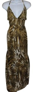 Brown- Animal Print Maxi Dress by Lucky Brand Maxi