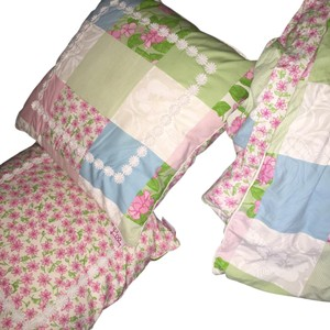 Lilly Pulitzer Pink Floral Twin Duvet Cover And Matching Pillows Set