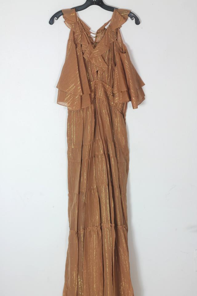 1827efdd34 Terracotta Maxi Dress by Rachel Zoe Wedding Vacation Summer Open Shoulder  Danielle Image 11. 123456789101112