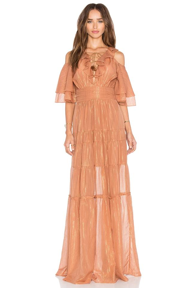 a50d666484 Rachel Zoe Terracotta Romantic Danielle Open Shoulder Lace Up Bodice Gown  Long Casual Maxi Dress Size 2 (XS) - Tradesy