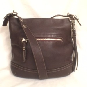 Coach Leather Hobo Messenger Cross Body Bag