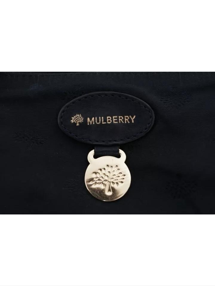 Mulberry Tillie Large Croc Reptile Handbag Black Suede and Regular ... f4058a8eb56be