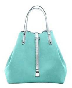 Tiffany & Co. Suede Tote in Blue & Sliver