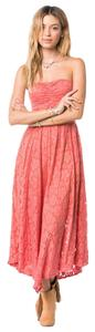Faded Rose Maxi Dress by Amuse Society Lima Pink