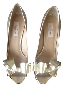 Valentino Bow Pump Leather Platino Pumps