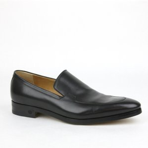Gucci Mens Hylands Leather Loafer W/gg Detail 10.5/us 11.5 353015 1000