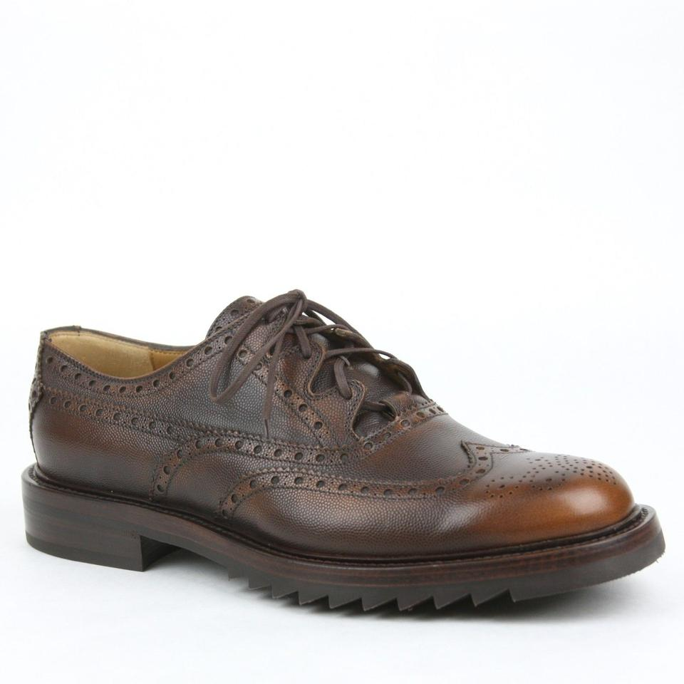 e5f370ec015a Gucci Brown Mens Leather Lace Up Brogue Oxford Size 11   Us 12 353038 2546  Shoes ...