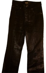 Manuel Python Straight Pants Black