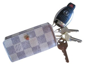 Louis Vuitton *CUTE*NICE*GUC Trifold Snap Closure 4 Ring Key Cles Holder Unisex