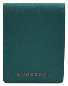 Burberry New Grainy Pebbled Leather Hip-Fold Wallet