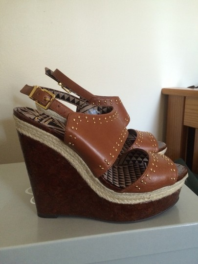 Jessica Simpson Luggage Wedges