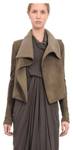 Rick Owens Shearling Suede Leather Fur Dna Dust Leather Jacket