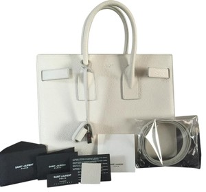 Saint Laurent Satchel in White